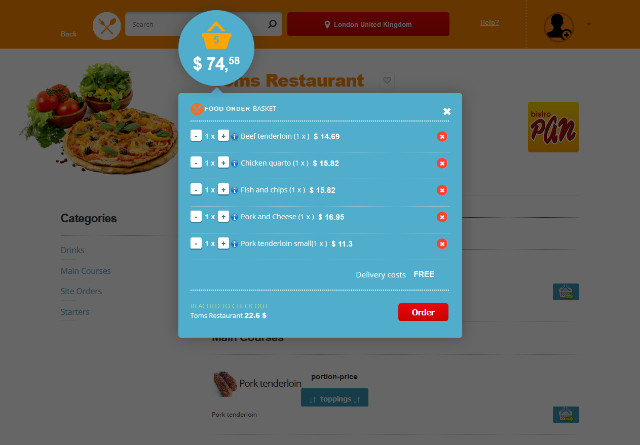 Food Order Delivery Responsive Scripts