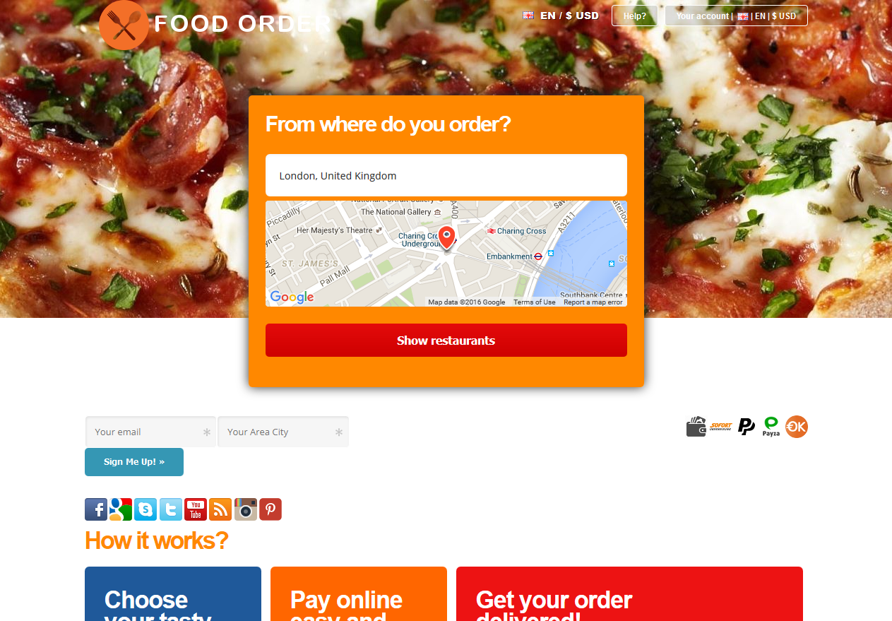 food order responsive